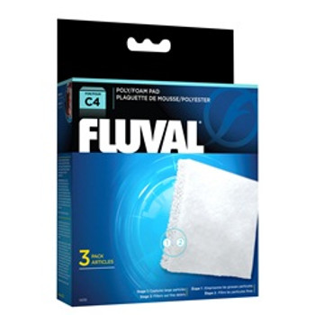 Fluval C4 Poly Foam Pad 3 Pack {requires 3-7 Days before shipping out}