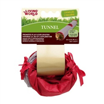 Living World Tunnel Grey/red Small {requires 3-7 Days before shipping out}