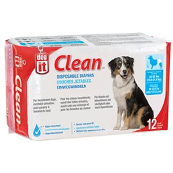 Dogit Disposable Diapers 35-55lb 12pk {requires 3-7 Days before shipping out}