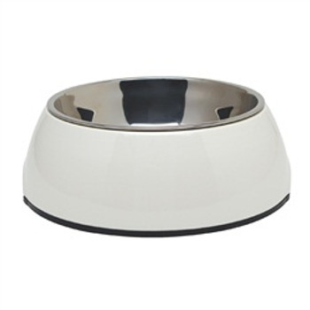 Dogit 2 In 1 Durable Bowl Medium White{requires 3-7 Days before shipping out}