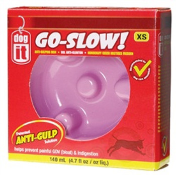 Dogit Go Slow Anti-gulping Bowl Pink Xs {requires 3-7 Days before shipping out}