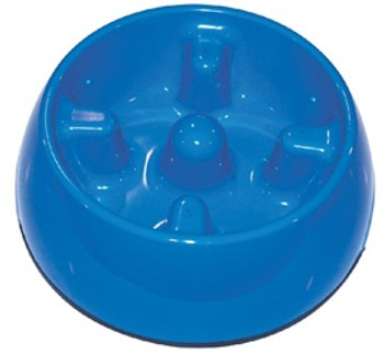 Dogit Go Slow Anti-gulping Bowl Blue Med {requires 3-7 Days before shipping out}