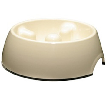 Dogit Go Slow Anti-gulping Bowl Wht Med {requires 3-7 Days before shipping out}