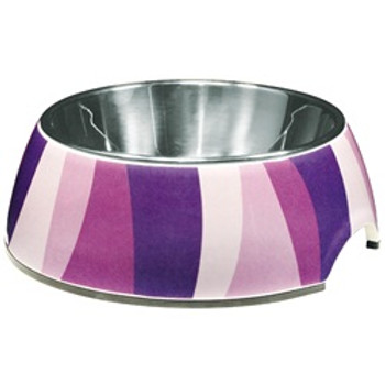 Dogit Style Bowl Purple Wild Stripes Sm {requires 3-7 Days before shipping out}