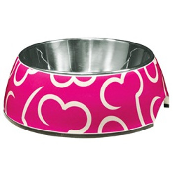 Dogit Style Bowl Pink Bones xs {requires 3-7 Days before shipping out}