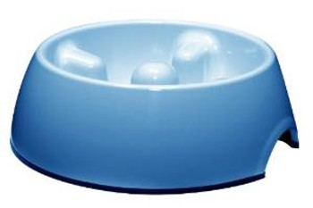 Dogit Go Slow Anti-gulping Bowl Blue L {requires 3-7 Days before shipping out}