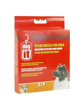 Dogit Nylon Dog Muzzle Black S 5in{requires 3-7 Days before shipping out}