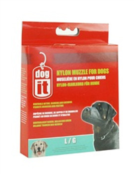 Dogit Nylon Dog Muzzle Black Lg 8in {requires 3-7 Days before shipping out}