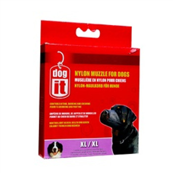 Dogit Nylon Dog Muzzle Black Xl 9in {requires 3-7 Days before shipping out}