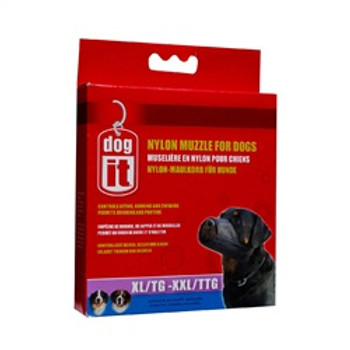 Dogit Nylon Dog Muzzle Black Xl/xxl 10in {requires 3-7 Days before shipping out}