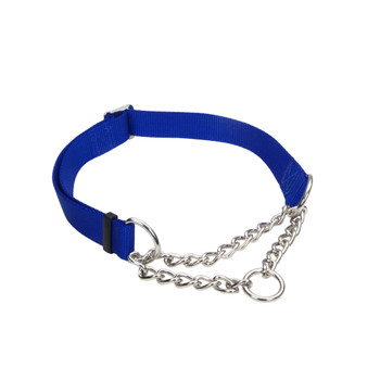 Coastal Check Training Collar For Dogs Adjustable Blue 3/4x14-20in