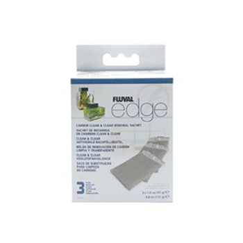 Fluval Edge Replacement Carbon 3 Pack{requires 3-7 Days before shipping out}