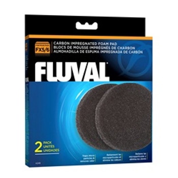 Fluval Fx5/fx6 Carbon Foam Pad 2pk {requires 3-7 Days before shipping out}