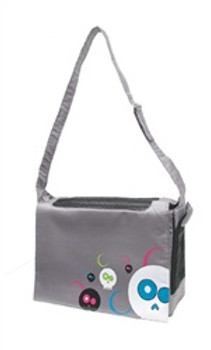Dogit Style Messenger Bag Daface Grey {requires 3-7 Days before shipping out}