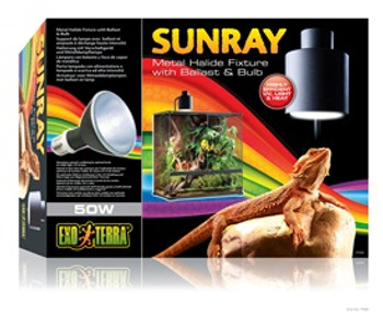 Exo Terra Sunray Light Fixture 50w{requires 3-7 Days before shipping out}