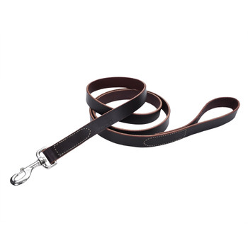 Coastal Circle T Latigo Leather Leash Latigo 1x6ft