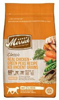 Merrick Clsc chicken /grn Pea 12#