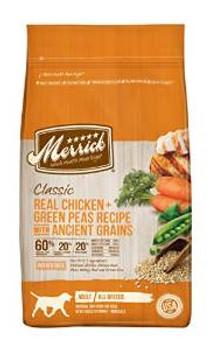 Merrick Clsc chicken /grn Pea 25#