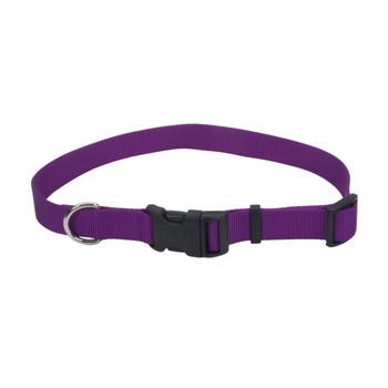 Coastal Adjustable Nylon Collar With Tuff Buckle Purple 5/8x10-14in