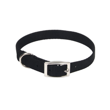 Coastal Single-ply Nylon Collar Black 5/8x14in