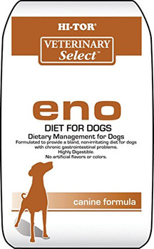 """HI-TOR Eno Diet is a dietary management formulated for dogs with chronic gastrointestinal problems. It provides a bland, non-irritating diet. It is highly digestible and has no artificial flavors or colors. It is great for the maintenance of adult do"""""""