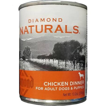 Diamond Naturals Chicken Dinner for Adult Dogs and Puppies 12/13.2 oz {L-1}419087