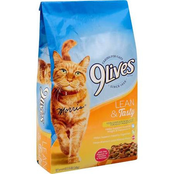9Lives Lean and Tasty Dry Cat Food 3.15lb{l-1} C= 799127
