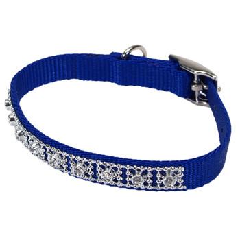 Coastal Nylon Jeweled Collar Blue 3/8x12in
