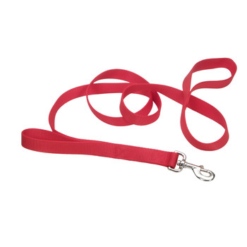 Coastal Nylon Loop Lead 1inx6 Red-81991