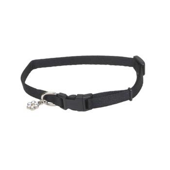 Coastal Li'l Pals Adjustable Nylon Collar Black 5/16x6-8in