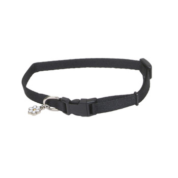 Coastal Li'l Pals Adjustable Nylon Collar Black 5/16x6-8in