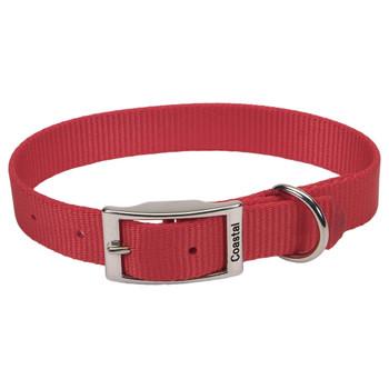 Coastal Single-ply Nylon Collar Red 1x20in