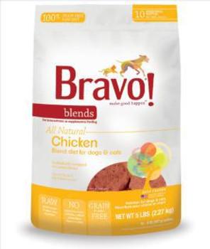 Bravo Blnd Raw chicken  Patty 5 lb