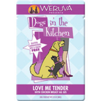 DOGS IN THE KITCHEN LOVE ME TENDER 2.8OZ POUCH