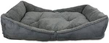 Afp Lambswool Bolster Bed Grey Lg (5391) {requires 3-7 Days before shipping out}