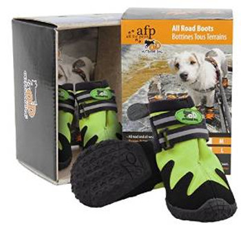 Afp All Road Dog Boots Green Lg (8071) {requires 3-7 Days before shipping out}