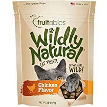 Fruitables Wildly Natural Cat Treats Chicken 12/2.5oz {L-1}953066