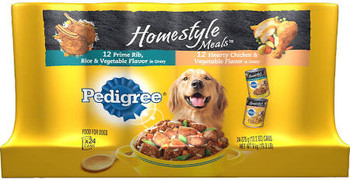 PEDIGREE Homestyle Meals Prime Rib Flavor and Hearty Chicken Flavor 13.2oz/12ct