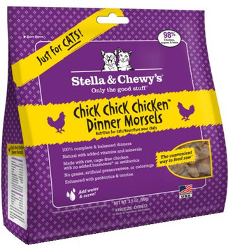 Stella & Chewy's 3.5 oz. Freeze-Dried Chick, Chick, Chicken Dinner for Cats