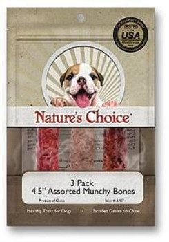 Loving Pet Rwhd Munchy Bones 4.5in 3p