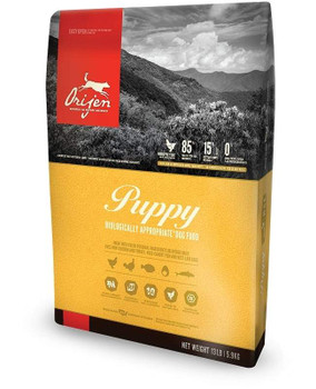 """Orijen Dry Puppy Food All puppies require a diet rich in proteins and fats form a variety of fresh whole meats to fully support their rapid growth and development. Orijen Dry Puppy food is formulated to meet those needs. With 38% richly nourishing pr"""""""