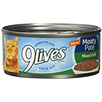 9Lives Meaty Pate Can Cat Food 24/5.5oz C= {L-1} 799611