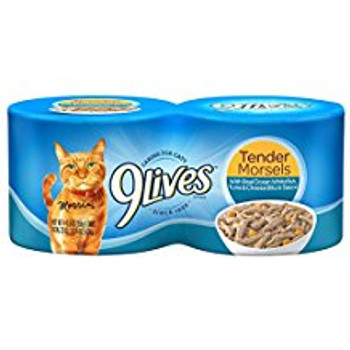 9Lives Ocean White Fish and Tuna and Cheese Cat Food 24/5.5oz C= {L-1} 799612