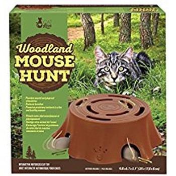 The Cat Love Woodland Mouse Hunt Is A Fun And Interactive Toy That Promotes Your Cat's Natural Predatory Instincts In A Fun And Healthy Manner. The Mice Sneak In And Out Of The Tree Stump Unpredictably And Their Tails Spin And Poke Through The Top, All Wh