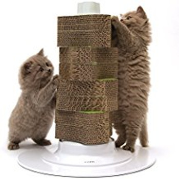 The Catit Senses 2.0 Scratcher Has A Fully Renewable Scratcher Part That Minimizes Waste. Simply Replace The Individual Scratching Discs For An Entirely New Scratcher.   The Catit Senses 2.0 Scratcher Helps Cats To Satisfy Their Natural Scratching Instinc