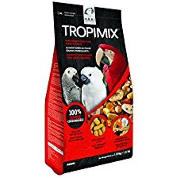 Tropimix Enrichment Formula For Large Parrots Is An Appetizing Food Mix Full Of Grains, Fruits, Legumes, Nuts And Extruded Tropican Sticks. Tropican Sticks Are Not Only Bursting With Peanut Flavor, But Are Formulated With Plenty Of Essential Nutrients To