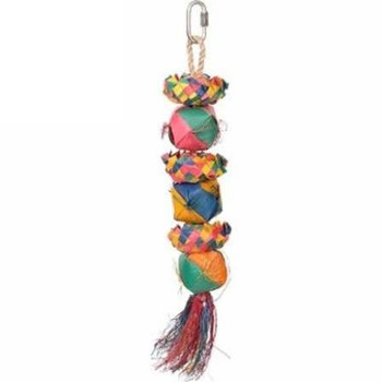 Enrich Your Bird's Playtime With Hari Rustic Treasures Cube Stacker. Hand Crafted With Natural Abaca And Palm Leaves, This Colorful Toy  Encourages Your Pet Parrot To Preen So You Don't Have To Worry About Feather Plucking.    Key Features  :     Suitable