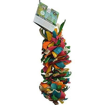 Enrich Your Bird's Playtime With Hari Rustic Treasures Silk Cascade. Hand Crafted With Natural Abaca, Bamboo And Corn Husk, This Colorful Toy  Encourages Your Pet Parrot To Preen So You Don't Have To Worry About Feather Plucking.    Key Features  :     Su