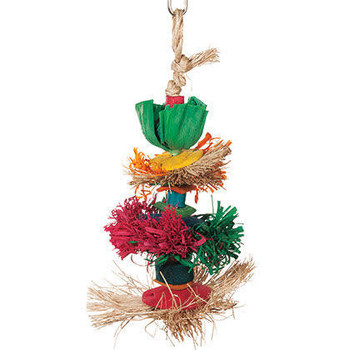 Enrich Your Bird's Playtime With Hari Rustic Treasures Three Delights. Hand Crafted With Natural  Materials Such As Abaca, Broom Grass And Corn Husk, This Colorful Toy  Encourages Your Pet Parrot To Preen So You Don't Have To Worry About Feather Plucking.
