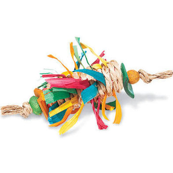 Enrich Your Bird's Playtime With Hari Rustic Treasures  Bamboo Wrap Foot Toy. Hand Crafted With Natural Materials Such As Abaca And Bamboo, This Stimulating Toy Relieves Boredom So Your Pet Parrot Remains Entertained For Hours.    Key Features  :     Suit